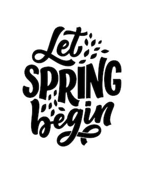 Lettrage de printemps