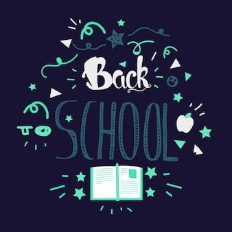Lettrage de retour à l'école