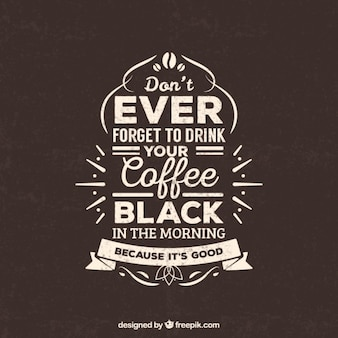 Lettrage rétro de café