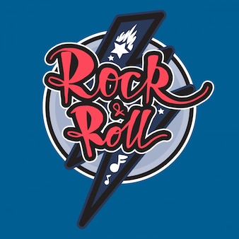 Lettrage rock and roll