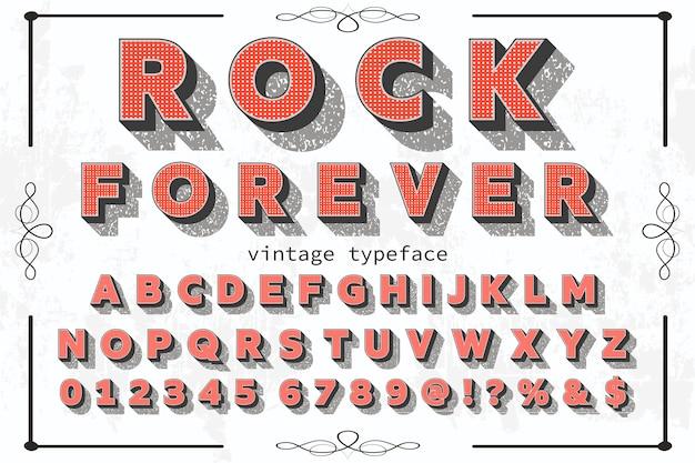 Lettrage rock effet étiquette design rock