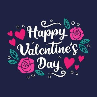 Lettrage romantique de la saint-valentin