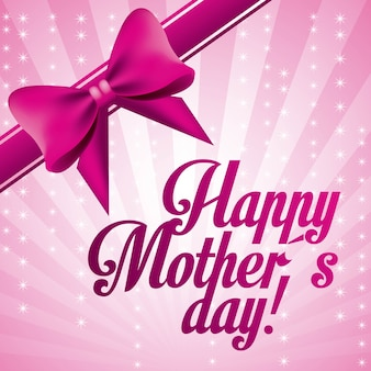 Lettrage rose fête des mères heureux