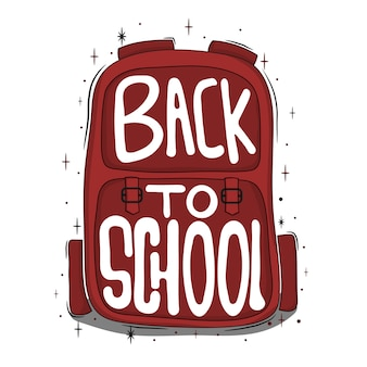 Lettrage avec sac: la rentrée scolaire