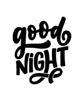 Lettrage sur le sommeil et la bonne nuit