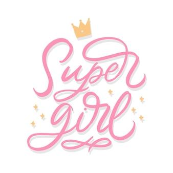 Lettrage super girl