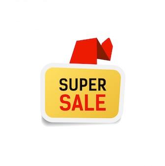 Lettrage super vente. élément de design de vente.