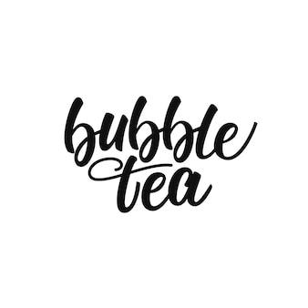 Lettrage de thé à bulles