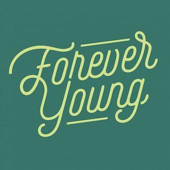Lettrage toujours jeune
