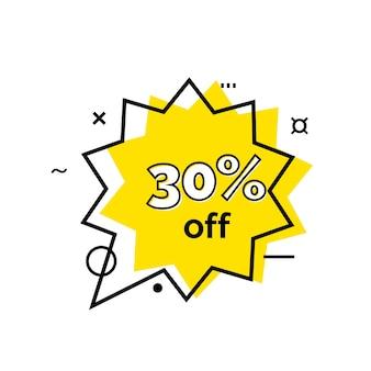 Lettrage de trente pour cent dans la bulle de dialogue