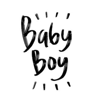 Lettrage de typographie bébé garçon