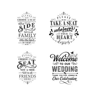 Lettrage de typographie de citations de mariage pour la conception de tshirt