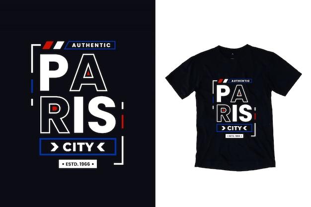 Lettrage de typographie moderne de la ville de paris