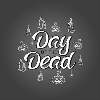 Lettrage de vecteur jour des morts