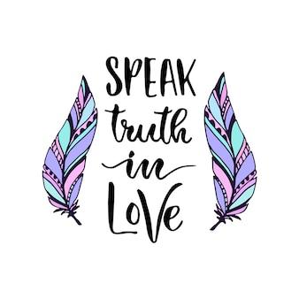 Lettrage de vecteur moderne. parlez de confiance en l'amour.