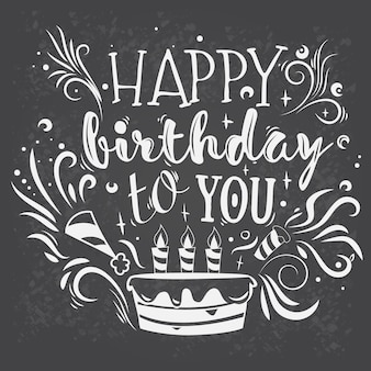 Lettrage vectoriel joyeux anniversaire