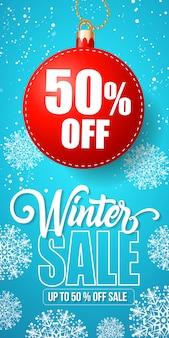 Lettrage de vente d'hiver