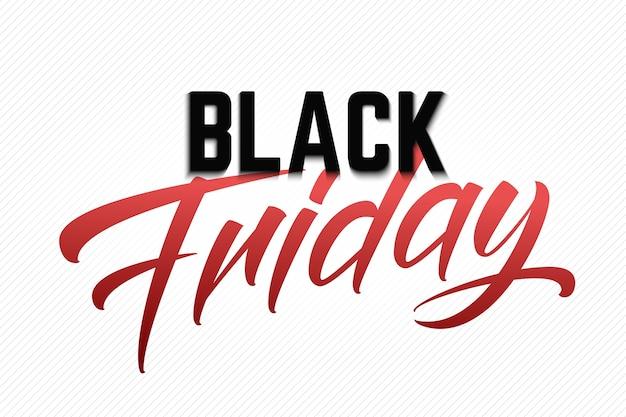 Lettrage de vente vendredi noir