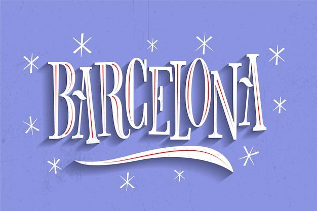 Lettrage de la ville de barcelone