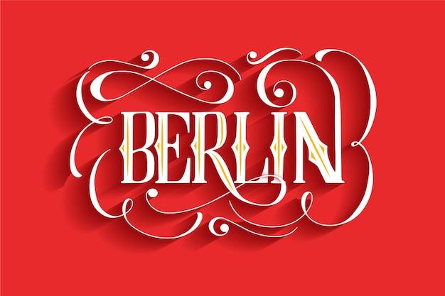 Lettrage de la ville de berlin