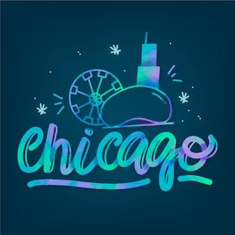Lettrage de la ville de chicago