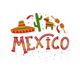 Lettrage de la ville de mexico