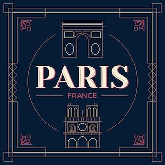 Lettrage de la ville de paris
