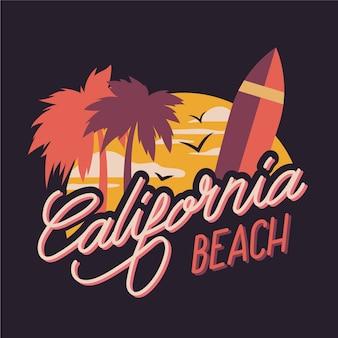 Lettrage de ville de plage en californie