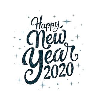 Lettrage vintage bonne année 2020