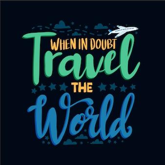Lettrage de voyage d'aventure