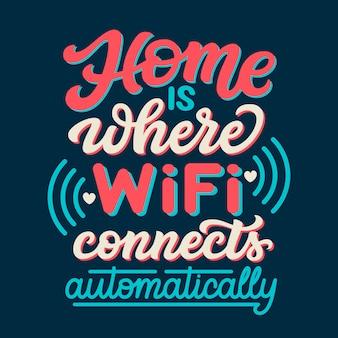 Lettrage wifi à la maison