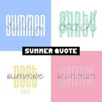 Lettrages de polices pinceau été dessinés à la main. typographie estivale - le meilleur de tous les temps, vacances, fête à la plage.