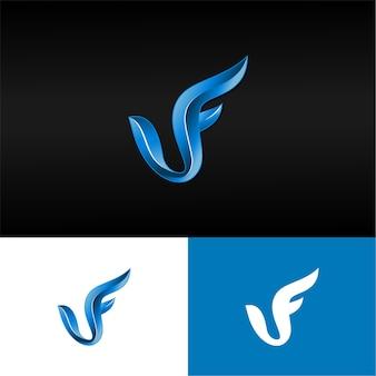 Lettre 3d vf logo