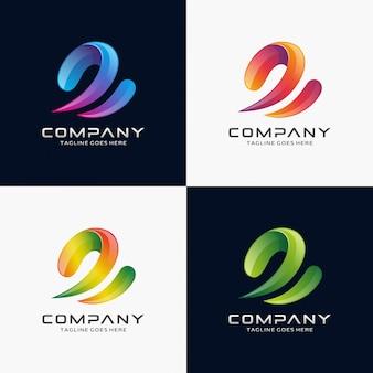 Lettre abstraite e logo