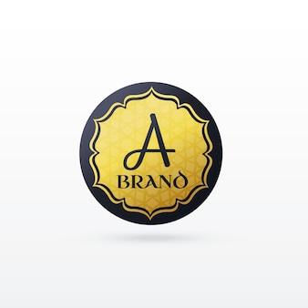 Lettre abstraite un logo en style islamique