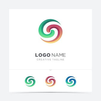Lettre abstraite variation de logo ouragan