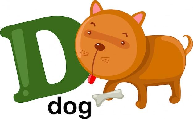 Lettre de l'alphabet animal - d