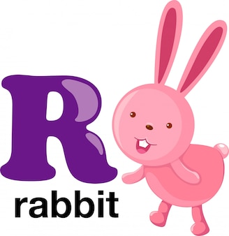 Lettre de l'alphabet des animaux - r