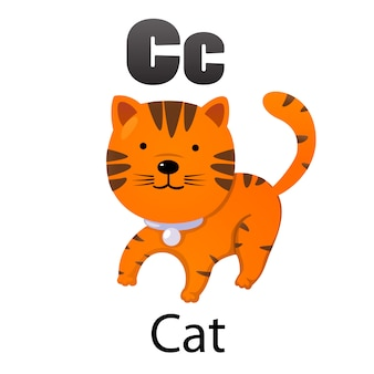 Lettre alphabet c-cat