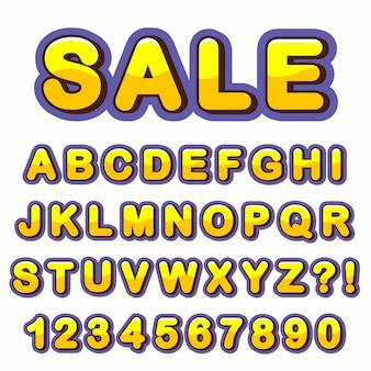 Lettre alphabet avec des chiffres design de style moderne