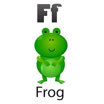 Lettre alphabet f-frog