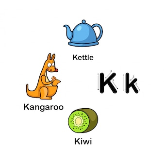 Lettre de l'alphabet k
