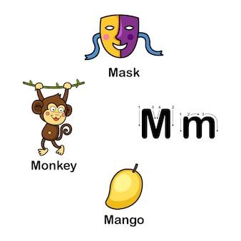 Lettre de l'alphabet m