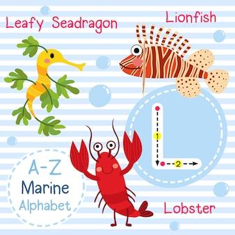 Lettre alphabet de la mer l