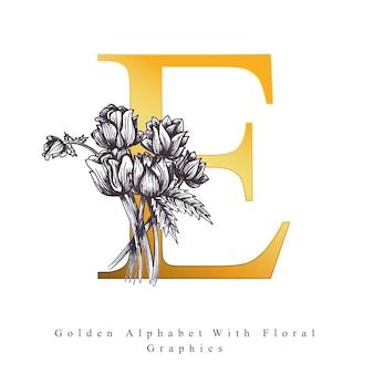 Lettre de l'alphabet d'or e