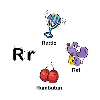 Lettre de l'alphabet r