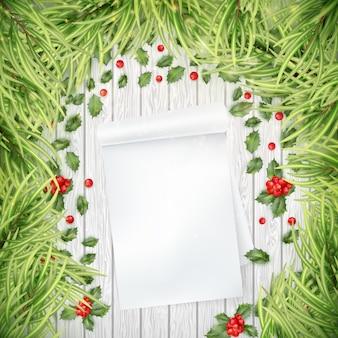 Lettre au modèle décoratif de noël de santa. et comprend également