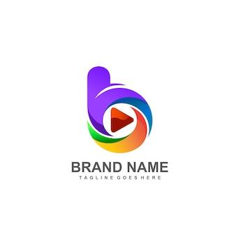 Lettre b et création de logo de jeu