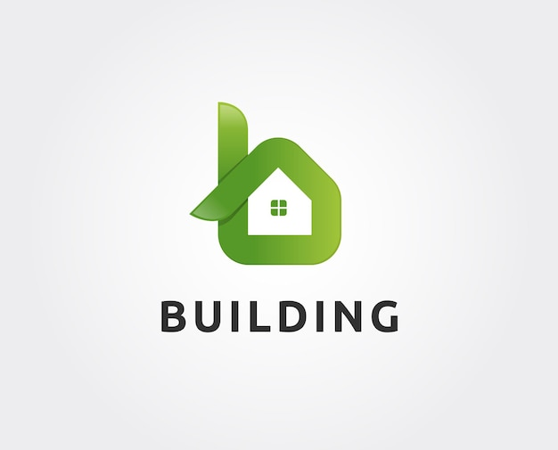 Lettre b avec toit de maison