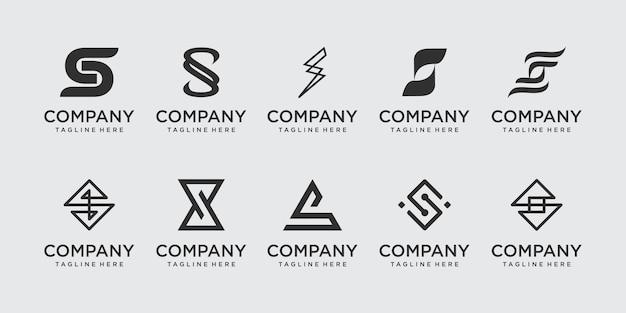 Lettre de collection s ss logo icon set design pour les entreprises de la mode sport automobile